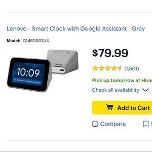 Lenovo google alarm clock